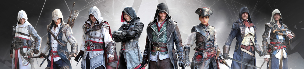 Assasins Creed character line-up.